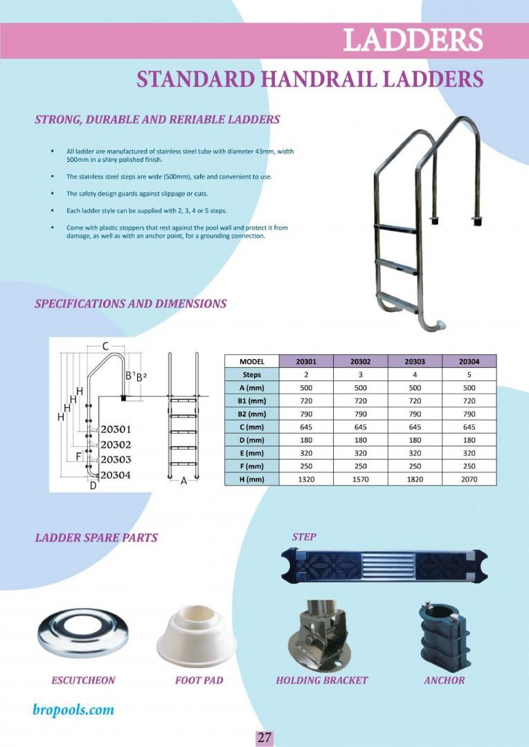 Standard handrail ladders
